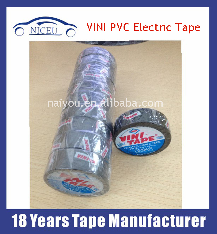 "#102 , 3/4""*10Y DENKA made in Japan PVC insulating vini tape / vini pvc tape"