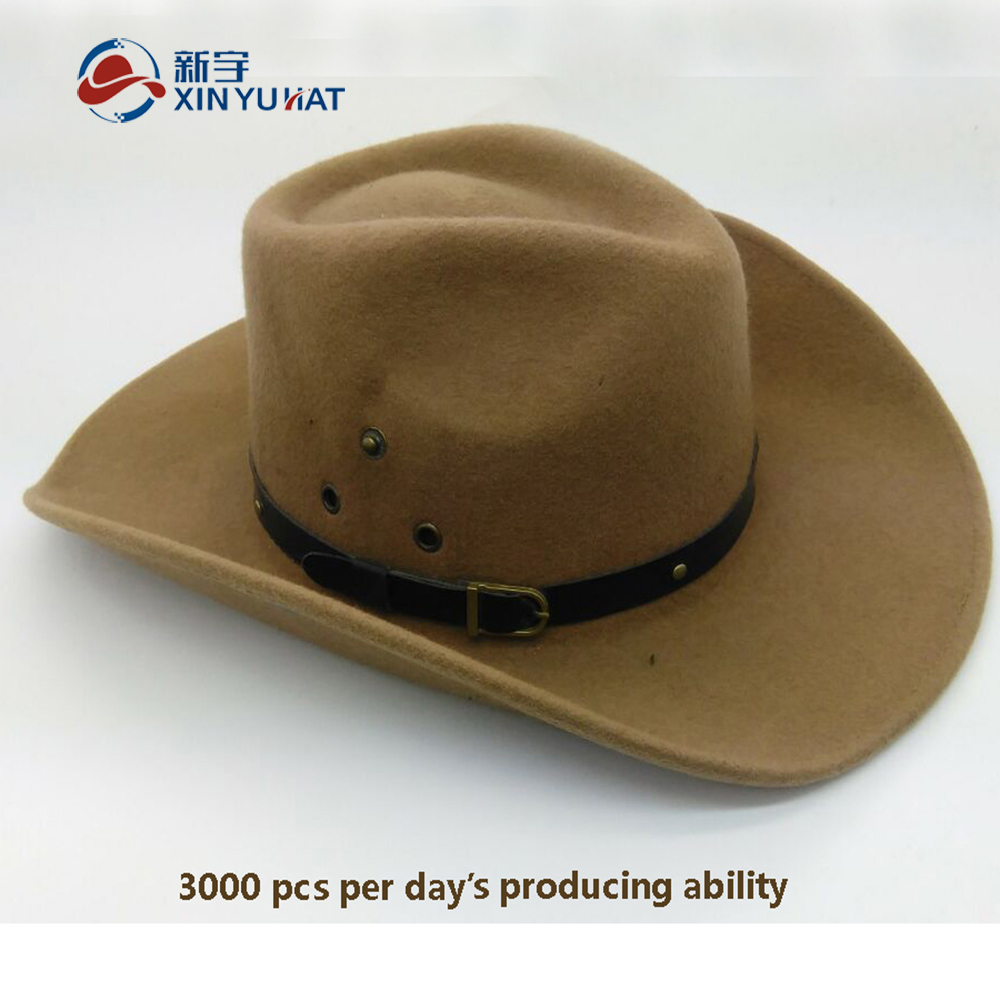 high quality wool felt cowboy hat cheap men fedora hat
