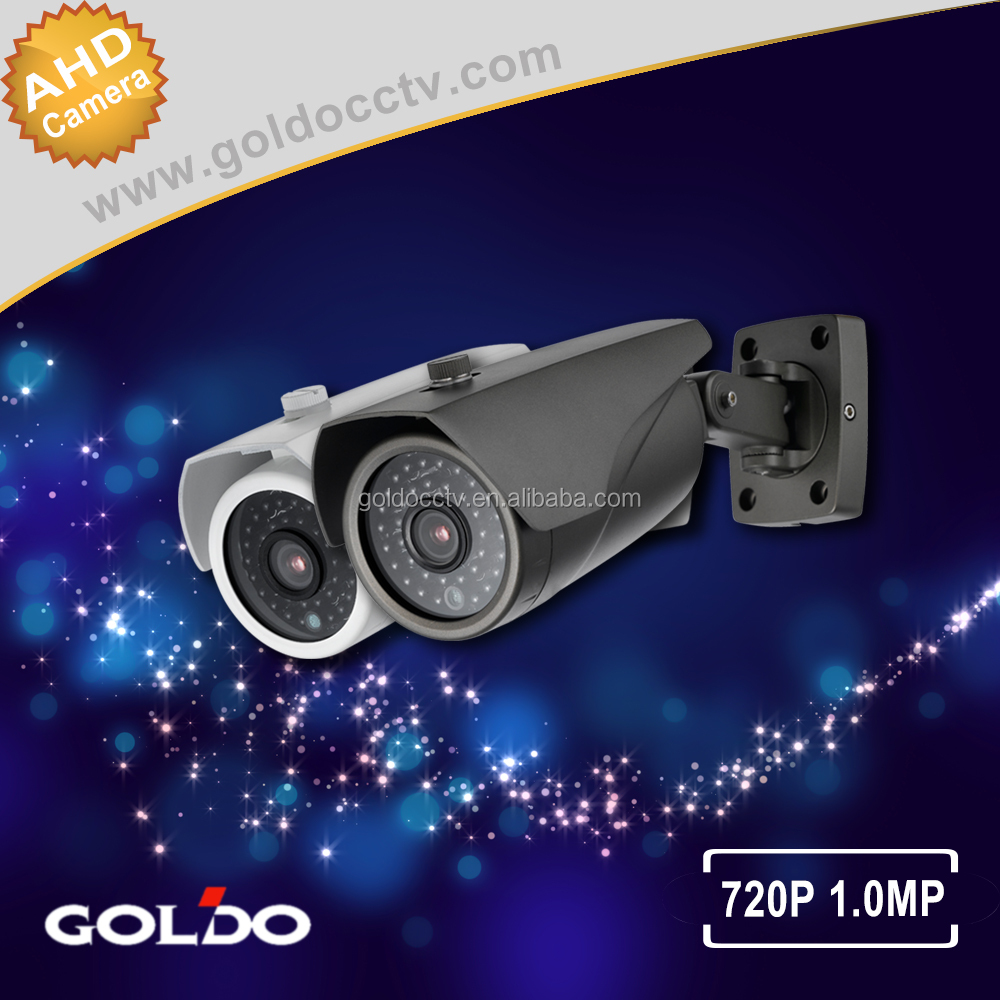Goldo Full HD AHD 720P waterproof bullet security surveillance cctv camera 36pcs Infrared