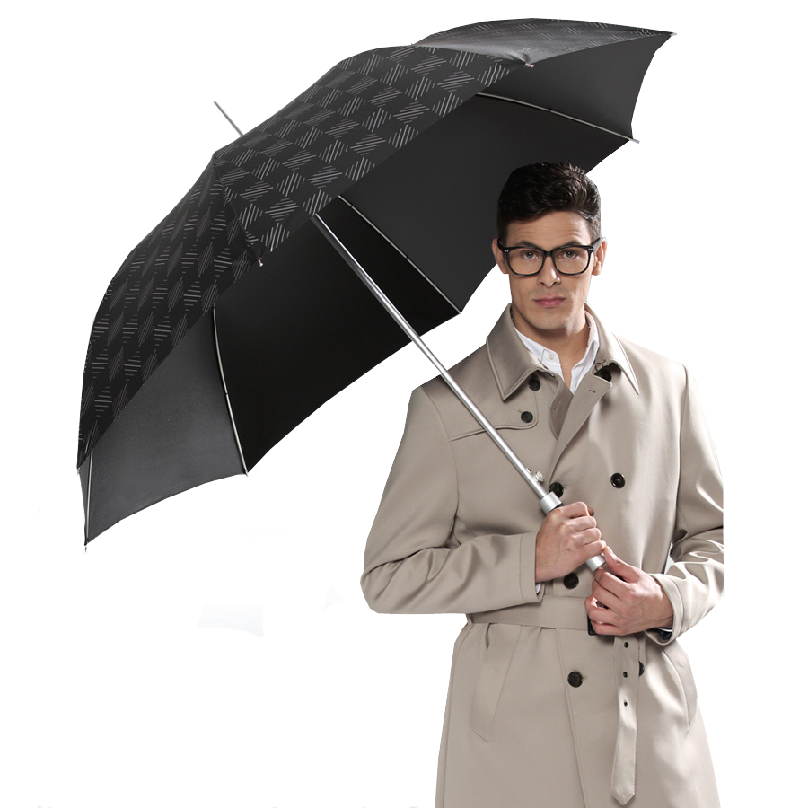 27 inch Automatic Aluminum Light Weight Sunscreen Men's Straight Umbrella for promotional