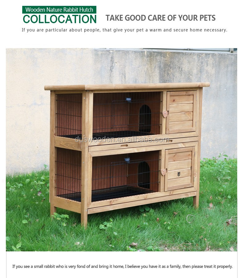 Wooden rabbit hutch Bunny house Cheap wooden pets house