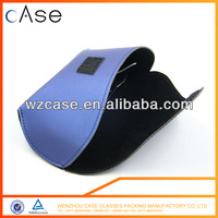Blue PU leather glasses cases for reading glasses