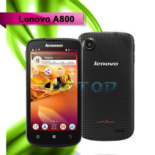 dual sim card dual standby original cell phone lenovo a800 android 4.0 single camera 5.0MP with CE certificate