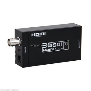 HD SDI to HDMI 720p 1080p Adapter Video Converter with Embedded Audio For CRT LCD Projector PC CCTV camera