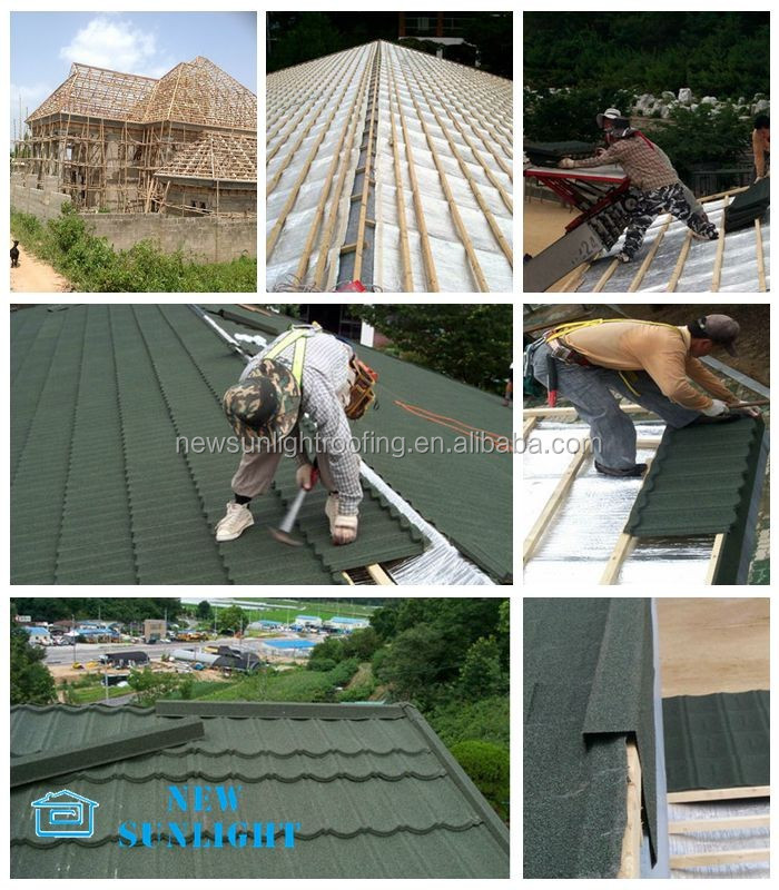 Waterproof SONCAP galvanized stone coated steel roof tile