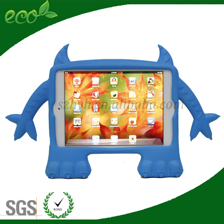 unique shape custom bumpers 8 inch waterproof monster design EVA tablet cover rubber tablet pc case for ipad mini
