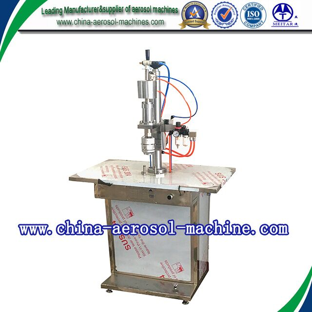 Factory price semiautomatic sealing machine for aerosol cans