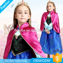 Vendita calda di alta qualità di Halloween anime congelato Princess dress costume