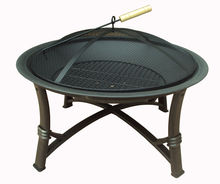 portable garden treasures fire pit and mesh lid