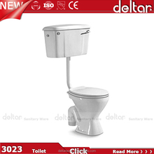Foshan Deltar 3023 Sanitary Ware Product Two Piece white color ceramic women toilet for Africa