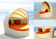 Hot selling Outdoor Wicker Patio Furniture Round Bed Prices HL-2056