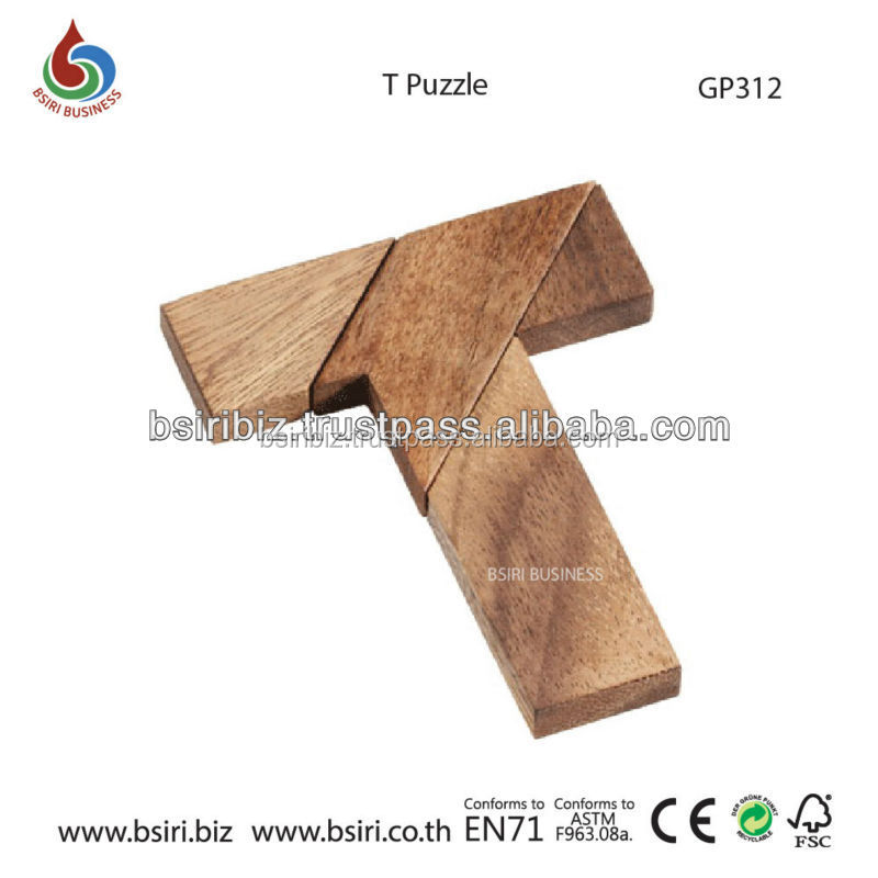 Wooden puzzles T puzzle toys