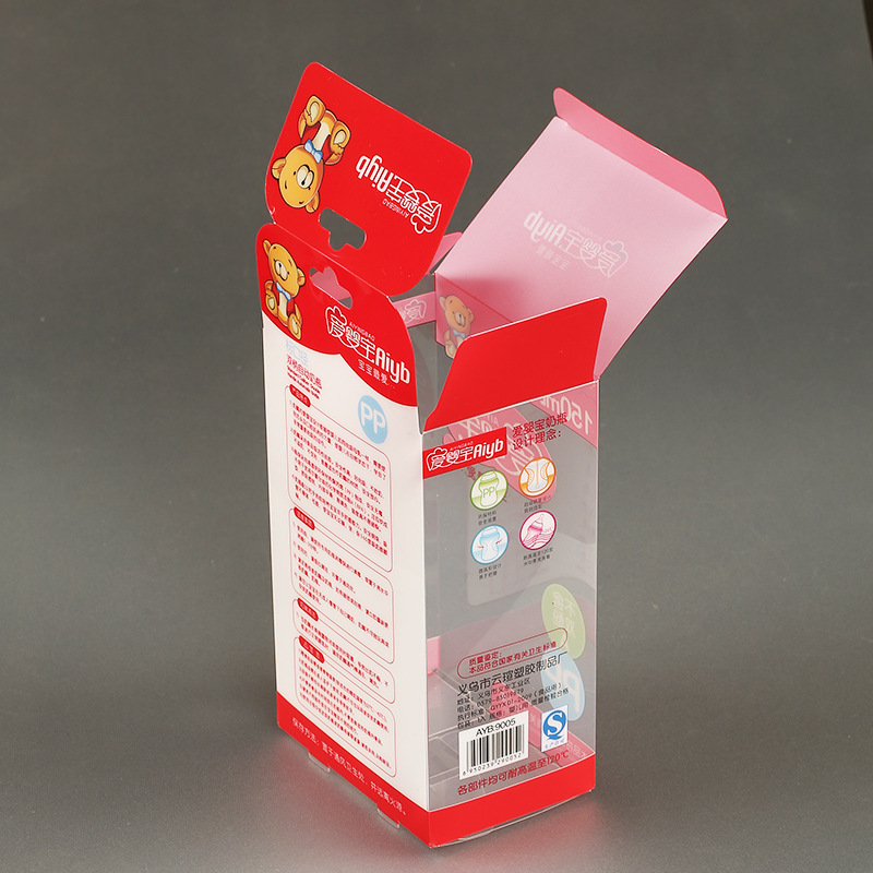 Custom printed cheap clear PET box with factory price,Clear free sample for recyclable clear PET box with custom size