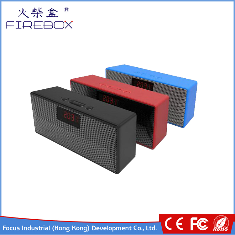 Trending Hot Products red Cuboid ABS HD call plastic boxes portable wireless music mini bluetooth speaker led the lamp