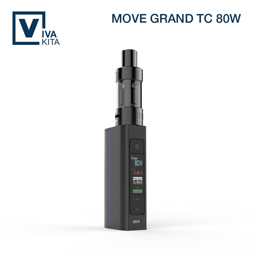 latest electronic devices ecg vaporizer VIVAKITA 80W TC magic puff e-cigarettes
