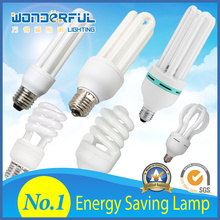 Supplier Wholesale 2u/3u/4u Energy Saving Lamp /U Shape Full Half Spiral Tube LED CFL Lighting / E27 B22 E14 Light Bulbs