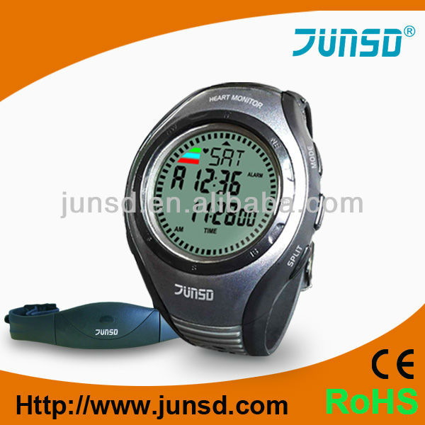 Professional wristband pulse watch heart rate monitor with chest belt JS-717A