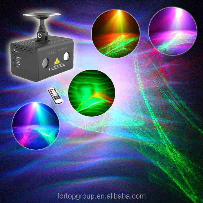New SUNY Indoor Mini Projector Twin Patterns Effects RG Red Green LED Stage Lighting for Home DJ Party Lighting Club Projector