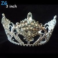 Gorgeous full crystal beauty round pageant crowns, customized full round bridal crowns for queen