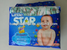 Little Star Brand Baby Product Disposable Sleepy Baby Diaper