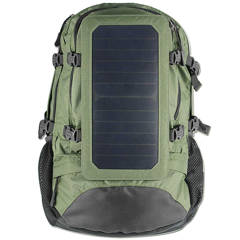 Outdoor 35L Solar Backpack Charger Bag Removable 6.5W Solar Panel Back Pack for Cell Phones / 5V Devices Power Bank