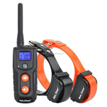 Pet-916N shock electric pet dog training collar with 330yards remote range and orange button