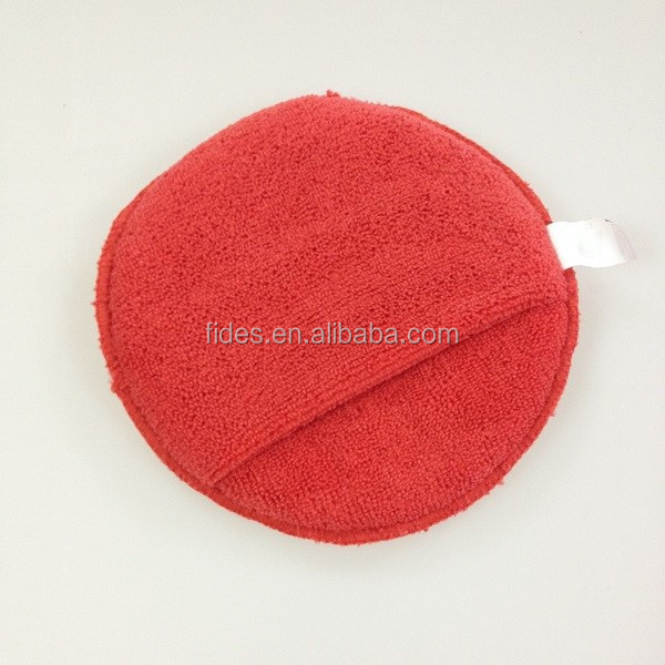 Auto care microfiber wax terry applicator car buffing and polishing pad