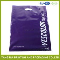 shopping bag with reinforced die cut handle