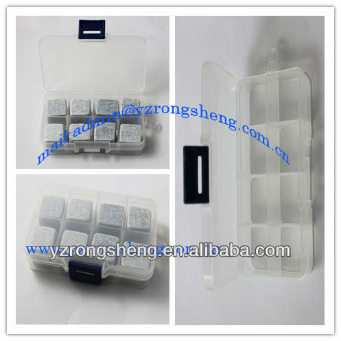 clear pvc packed soap stone rock