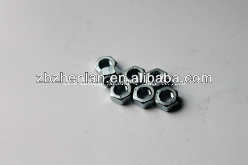 A2-70 DIN934 hex nuts M2 M2.5 M3 M4 M5 M6 M8 in stock