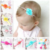 Beautiful chiffon flower head band for newborn infant, Cheap infant girls hair accessories hairband