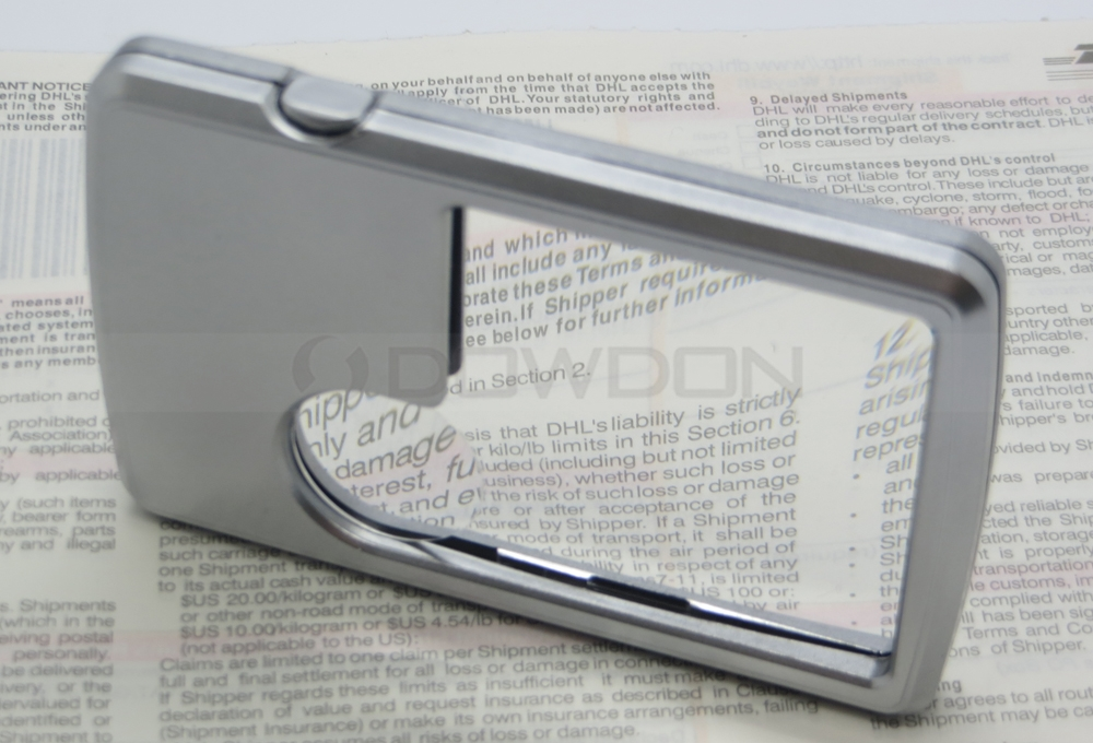 LED Illuminated Credit Card Size Magnifier 3X 6X Magnifying Glass