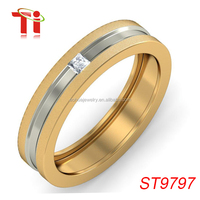 latest gold ring, spikes 316L stainless steel ring, smart gold ring desingns