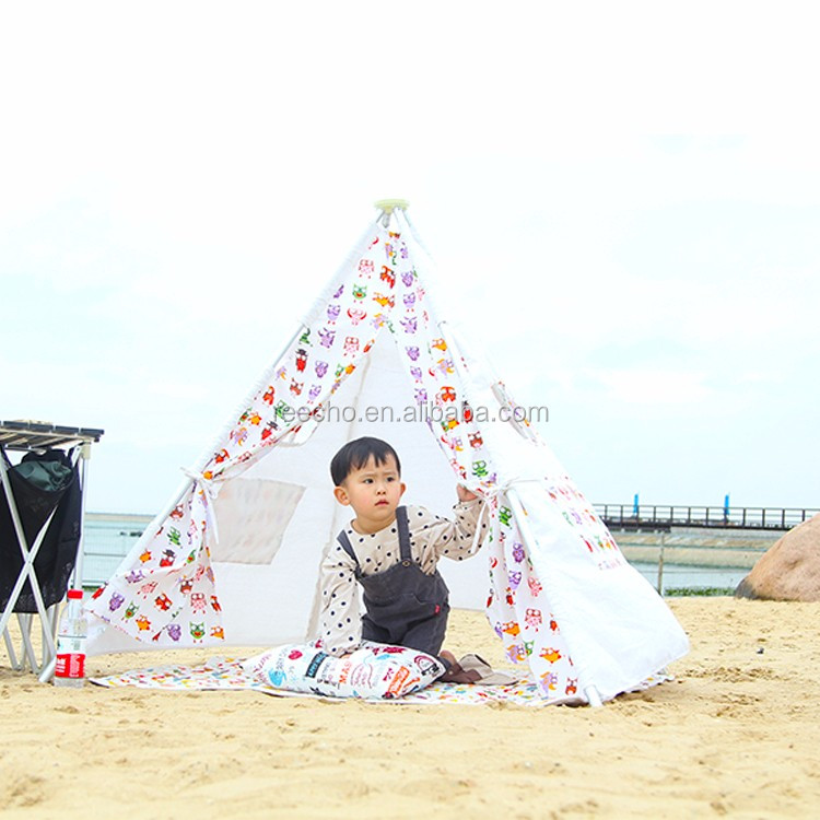 100% Handmade Cotton Canvas Metal Poles Folding Kids Bed Camping Tent
