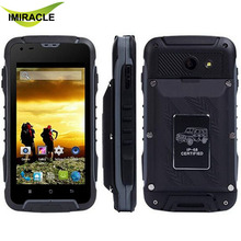 F605 Rugged Mobile Phone 4.5inch Dual Core WCDMA Dual SIM IP68 Waterproof Smartphone