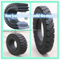 "Best price 16"" solid rubber bicycle tire, 9.00-16 construction tire rubber wheels 15 assembly"