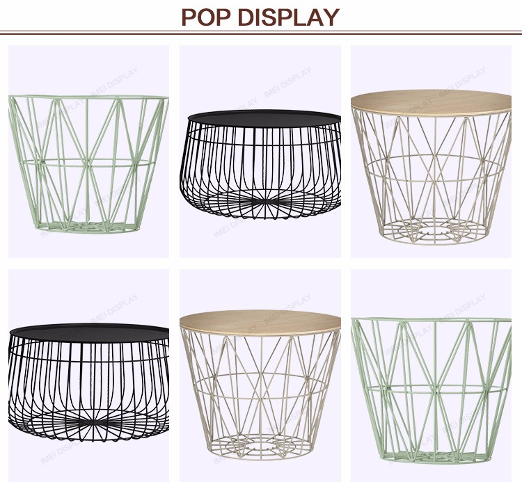 Art style customized storage metal wire basket for sale