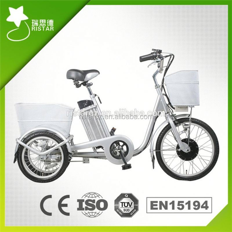 China high quality 26inch 36V 10AH li-ion battery 250W road electric tricycle with 60- rseb-704Z