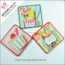 Hot selling promotional souvenir hard board cork mdf cork coaster