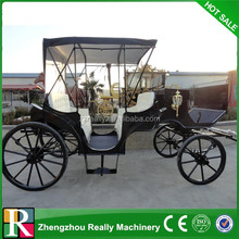 Royal Black Gold Horse Carriage/Wedding Luxurious Royal Horse Carriages/Presidential Royal Horse Drawn Carriage