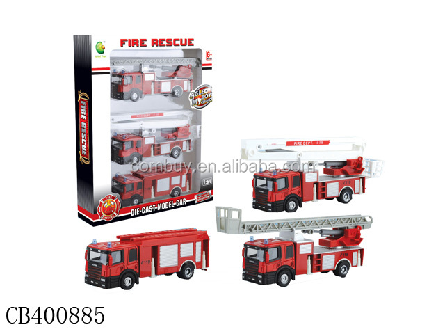 1:54 die cast toy fire truck metal model truck