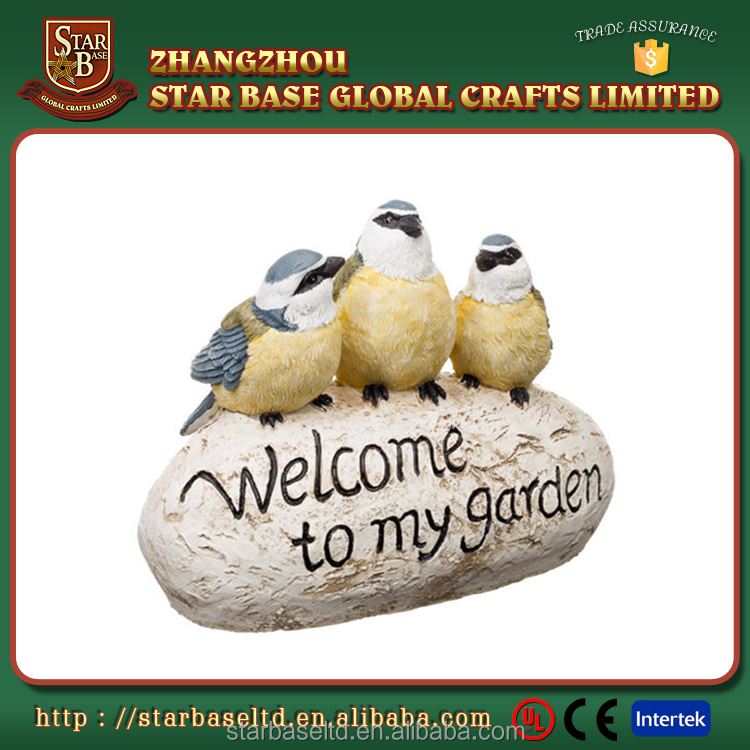 Beautiful cute animal crafts nice garden decoration polyresin white bird figurine