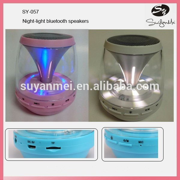 Outdoor & Home Use Night-light Mini Portable Wireless Bluetooth Speaker
