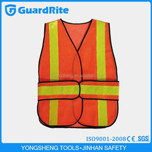 GuardRite Brand Survival medical emergency first aid warning vest with pvc reflective tape
