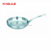 High quality polished 3 ply stainless steel frying pan