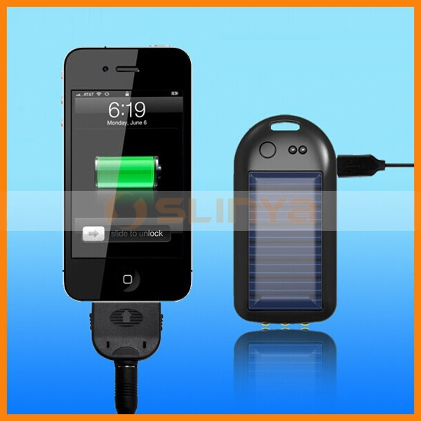 700mah LED Keychain Flashlight Solar Battery Charger for Mobile Phone