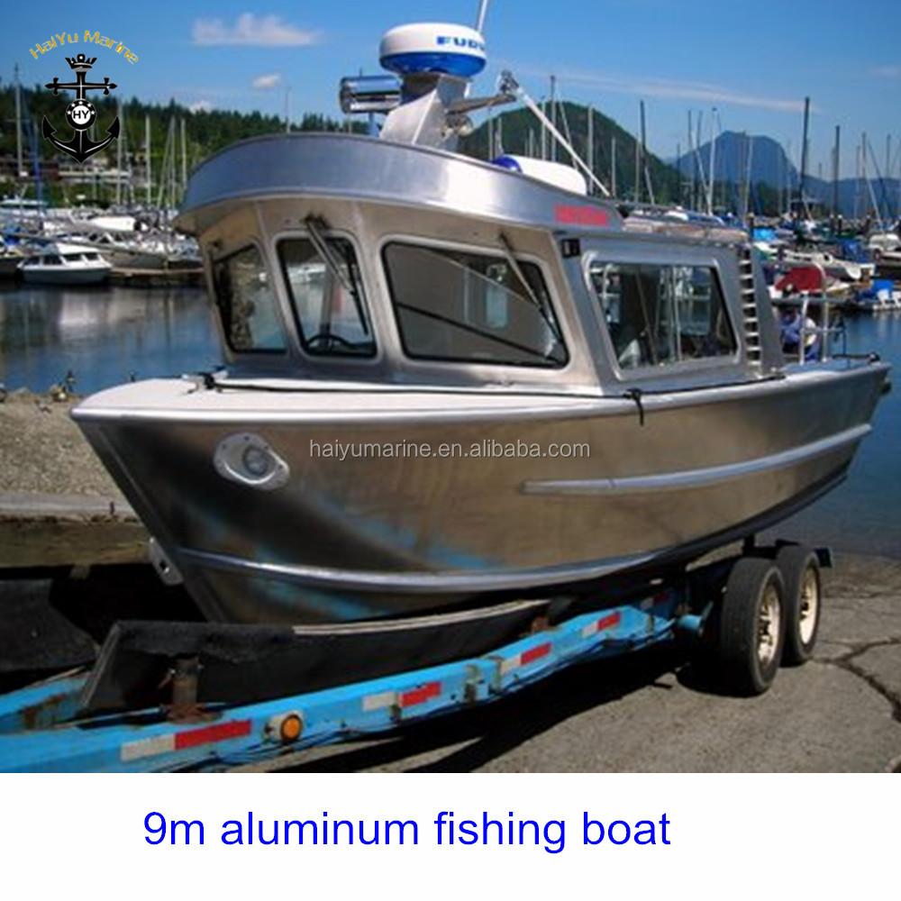 Aluminum Fishing Boats For Sale >> Hot Sale 9m 29ft Aluminum Fishing Boat Fishing Vessel View Fishing