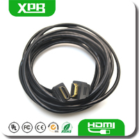High Speed Black Color Gold Male to Male 5M Length Cable HDMI a euroconector For 3D HDTV PS2 Tablet PC