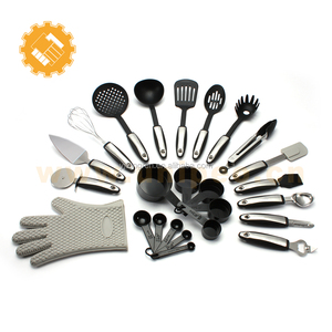 new products Stainless Steel Nylon 25 Pieces Kitchen Utensils Set Cooking Tools Gadgets with silicone glove