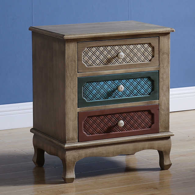 Factory Customized Living Room Furniture Antique Wooden Storage Chest of Drawers